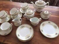 NORITAKE FINE CHINA TEA SET. 26 PIECES. 'ROMANCE' rare pattern