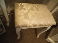 Gorgeous white vintage style wooden stool/ chair, shabby chic