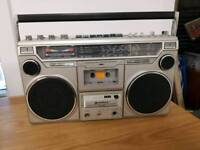 Vintage Hitachi radio / stereo cassette player