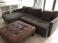 Beautiful grey two piece couch. Moving sale.
