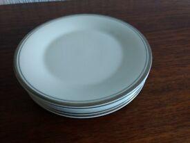 "Royal Doulton Platinum Concord 8"" salad plates x6"