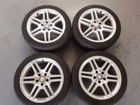 Mercedes c class Sport Alloy wheels 17Inch and Tyres Excellent Condition