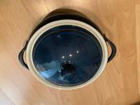 Denby boston blue casserole pot and lid