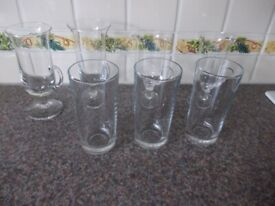 Seven glasses very good condition