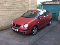 Volkswagen POLO Sport 1.9 litre TDI 5 door Red Hatchback - 2002