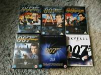 JAMES BOND 007 BLUERAY'S AND DVD'S