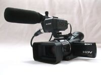 SONY HVR-A1E HDV / MiniDV CAMCORDER OUTFIT LOW HOURS (PAL)