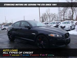 2014 Jaguar XFR BLACK ON BLACK / NAVIGATION / SUPERCHARGED