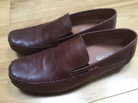 New PRADA brown leather mens driving moccasin shoe (£450 retail)