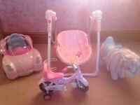 Baby Born: Bike, Car, Pony and Baby Annabell Rocker.