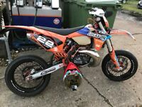 KTM EXC 250 2T 2013 Supermoto with lots of receipts and extras. VGC