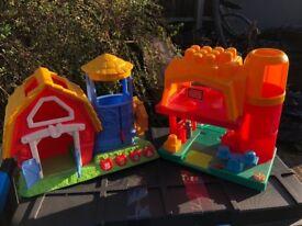 Megabloks mega bloks set incl house and figures and other farmhouse