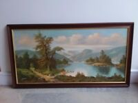 Beautiful framed scenery print