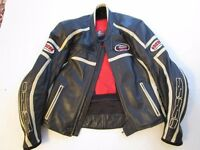 IXS full leather motorbike jacket. Size 52 European size (42 UK size)