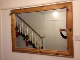 Wooden large mirror