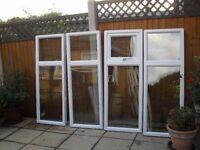 4 X ZENITH WHITE UPVC DOUBLE GLAZED WINDOWS