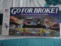 VINTAGE MB GAME - GO FOR BROKE - BOARD GAME 1985