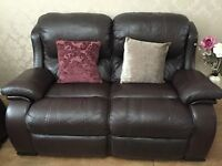 Chocolate Brown Leather Sofa- Retailer: DFS
