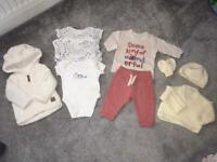 Unisex baby girl boy vest jacket outfit bundle 0-3 months