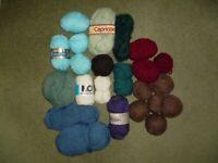 Large selection of knitting craft yarn wool - some vintage