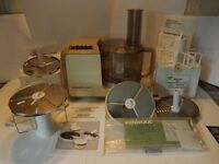 Kenwood Gourmet food processor A532 with attachments ready for BAKE OFF
