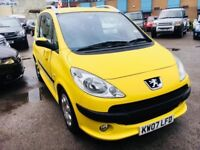 PEUGEOT 1007 1.4 AUTOMATIC DOLCE PETROL 3 DOORS HATCHBACK YELLOW 48000 MILES 2007 1 OWNER