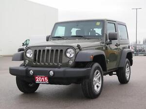 2015 Jeep Wrangler Sport! Manual! ONE OWNER!