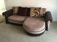 4 Seater Cushioned Back Sofa