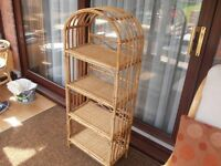 Cane Shelved Stand Ideal For Conservatory