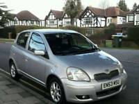 TOYOTA YARIS 1.0L TSPRIT 2003 5DOOR 12SERVICES MOT TILL16/2/2019 HPI CLEAR EXCELLENT CONDITION
