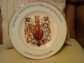 The Marriage of HRH The Prince of Wales and Lady Diana Spencer plate.
