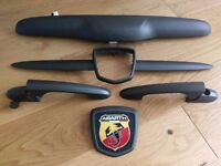 Abarth 500 595 Competizione Black/Charcoal parts boot badge handle whisker