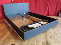 NEW Esme 5ft King Size Faux Leather Storage Bed - Not Fabric