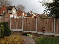 One bay of 6ft fencing installed