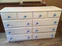Painted white chest of drawers