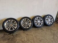 5x112 Mercedes c class 17 Inch alloy wheels and tyres from a 2017 car