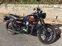 Mint! W800 Kawasaki EJ 800 AEFA SPECIAL EDITION 2014 black/red Full Service MOT Sep 2018