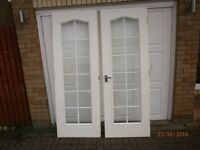 French Doors. Set of white internal doors. Free to good home.
