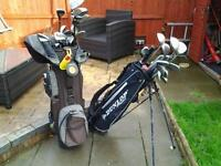 Golf Clubs with Golf Bags