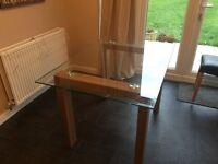 Oak & Glass table