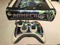 Xbox 360 minecraft themed console and controller