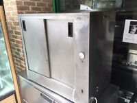 CATERING COMMERCIAL HOT CUPBOARD FOOD PLATE WARMER CAFE RESTAURANT CHICKEN PIZZA KEBAB TAKE AWAY BAR