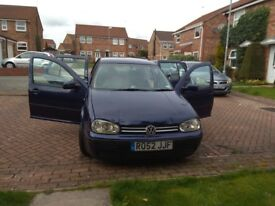 VW Golf 1.6, Cruise Control, Music Player with Aux. Part service history. Spare Tyre with Jack