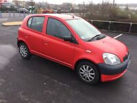 2002 TOYOTA YARIS 1.0VVTI 5DOOR £550