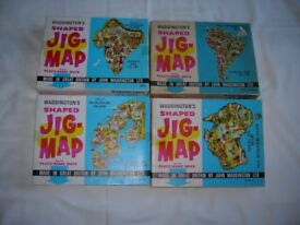 Jigmap puzzles 4 separate continents, old but fun sell separately £1.25 each