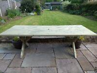 Custom made garden tables