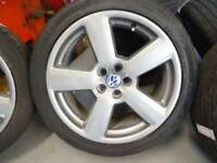"""**GENUINE AUDI RS6/ vw 18"""" ALLOYS WITH GOOD TYRES £300ono MANY MORE SETS AUDI/VW 17s 18s 19s 21s"""