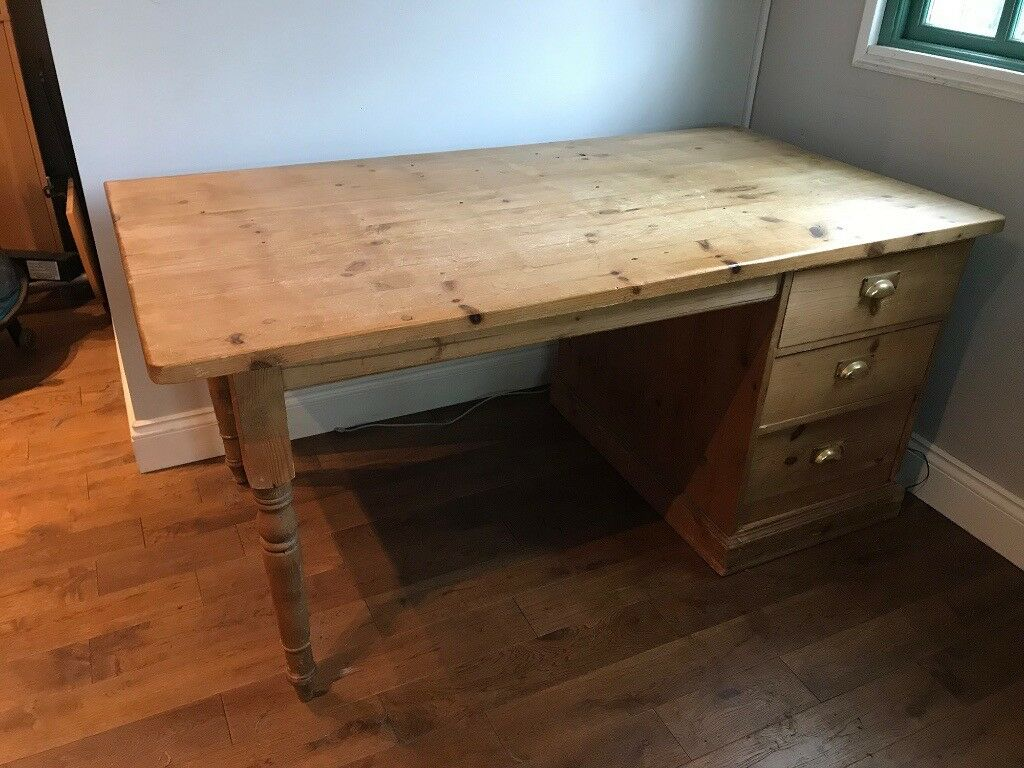 Large Pine Desk Left Or Right Handed