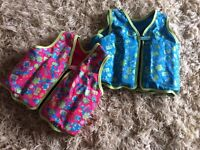 Blue and Pink Speedo Swim Vests with Removable Floats - Can be sold as a pair or seperately