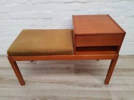 Danish Telephone Seat (DELIVERY AVAILABLE FOR THIS ITEM OF FURNITURE)
